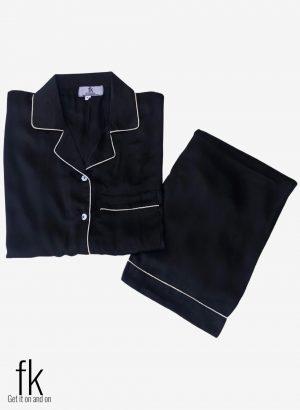 Black Silk Nightwear for ladies for a classy look