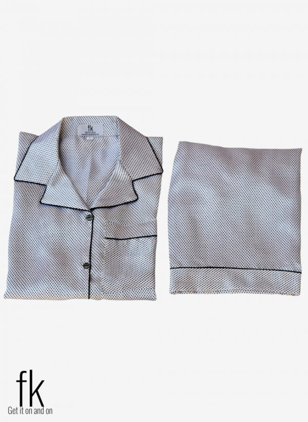 Black&White Dot Silk for you to look Stylish