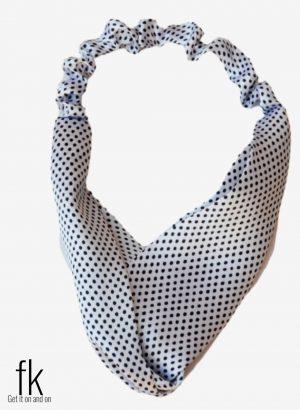 Black&White Dot Silk Headband