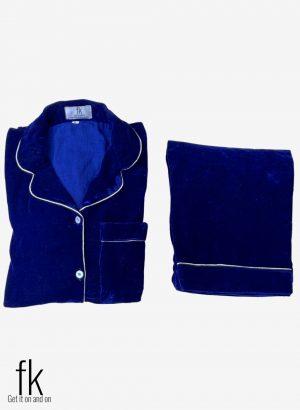 Blue Velvet Beautiful Nightwear for you to stay warm in winters
