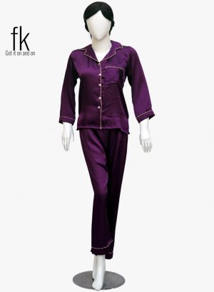 Plump Silk Stylish Nightsuit for ladies to feel comfort in