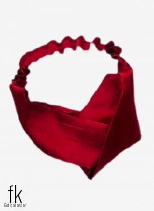 Mehroon Silk Headband