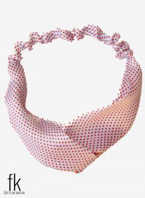 Pink Dot Silk Headband