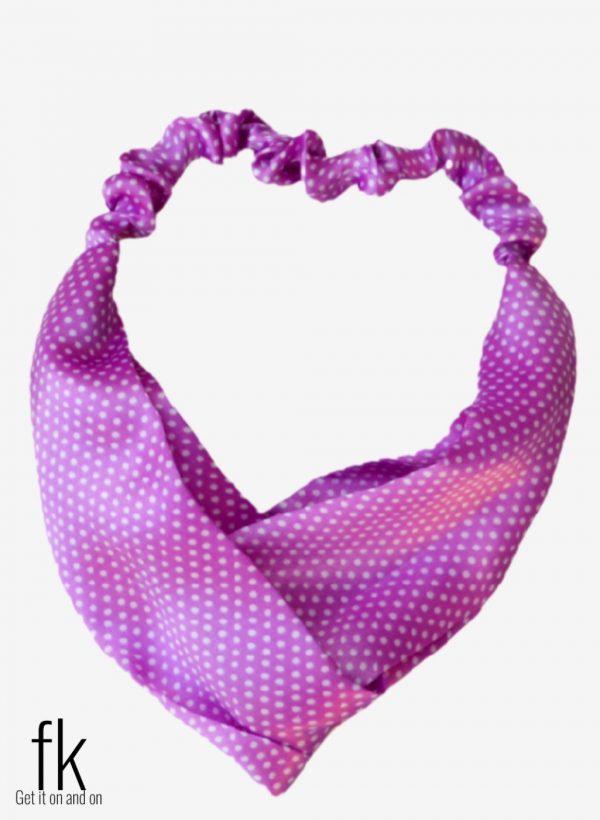 Purple Dot Silk Headband