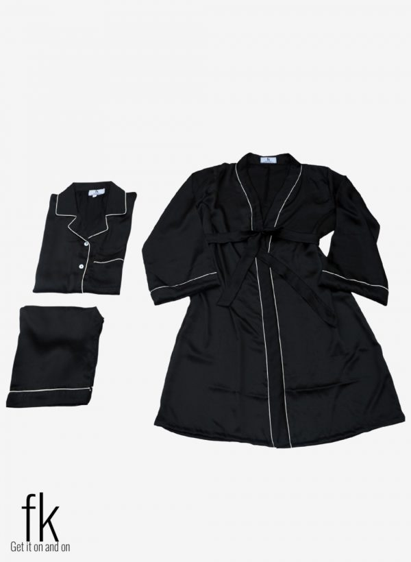 Black Silk with Gown Set to make you more classy