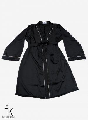 Black Silk Gown for perfect wedding wear