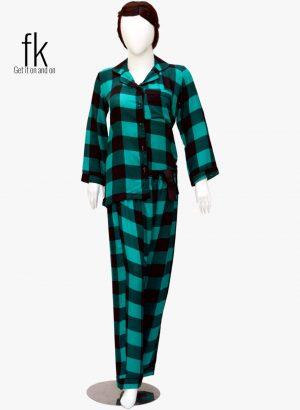 Green Check pretty design in knot style