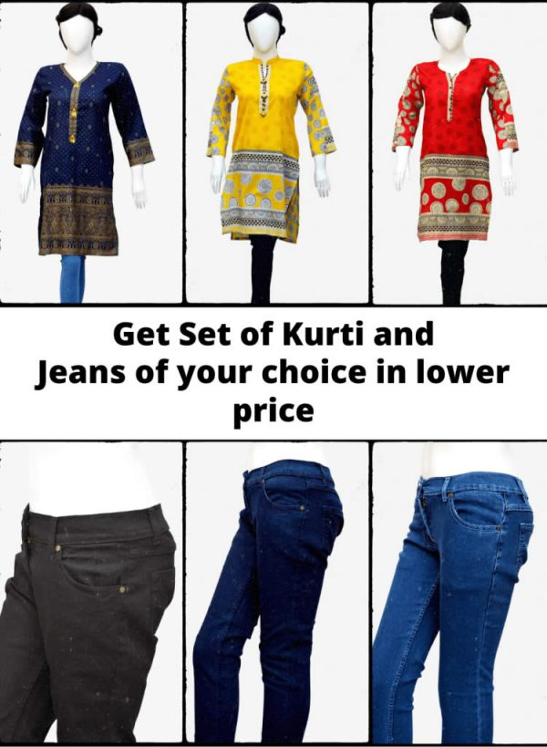 Kurti and Jeans Package