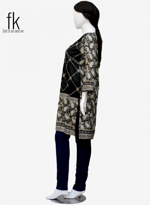 Cross Print Design Elegant Kurti