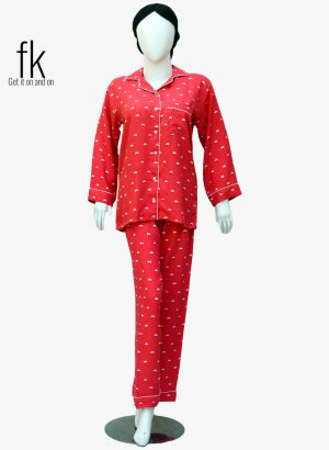 White Flower Stylish Sleepwear for Girls