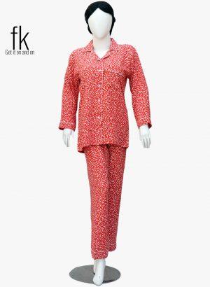 Mixed-up Design Stylish Nightsuit for Elegant Ladies