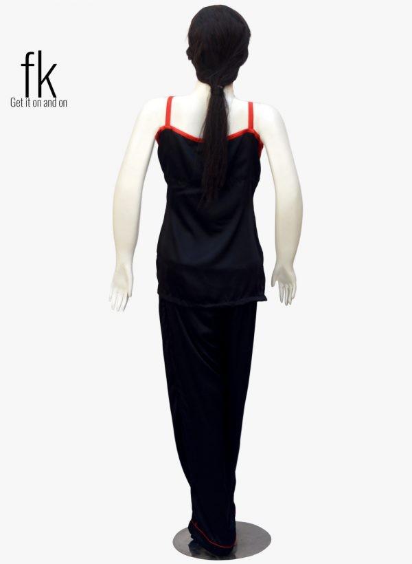 Black Silk Camisole and pajama