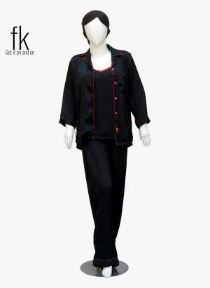 Black Silk shirt and camisole